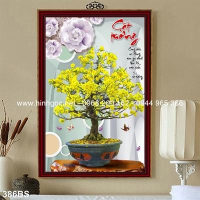 Tranh 3D cây bonsai- 386BS