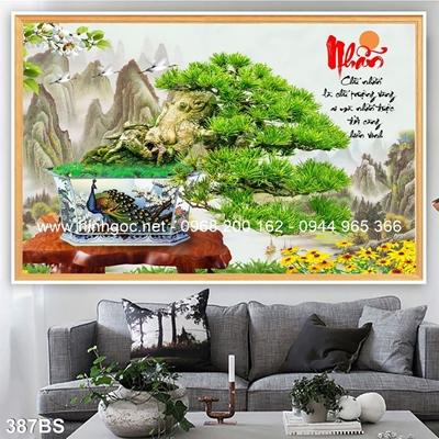 Tranh 3D cây bonsai- 387BS