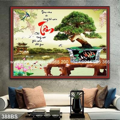 Tranh 3D cây bonsai- 388BS