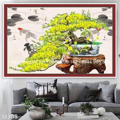 Tranh 3D cây bonsai- 389BS