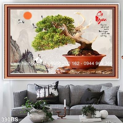Tranh 3D cây bonsai- 390BS