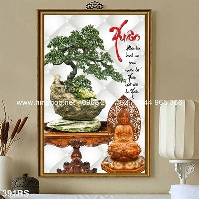 Tranh 3D cây bonsai- 391BS