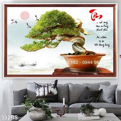 Tranh 3D cây bonsai- 392BS