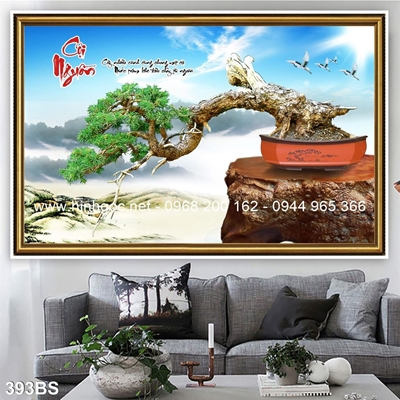 Tranh 3D cây bonsai- 393BS