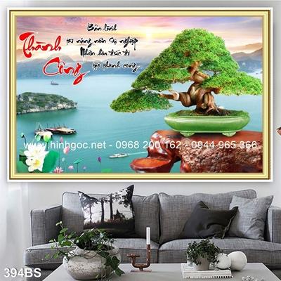Tranh 3D cây bonsai- 394BS