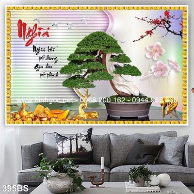 Tranh 3D cây bonsai- 395BS