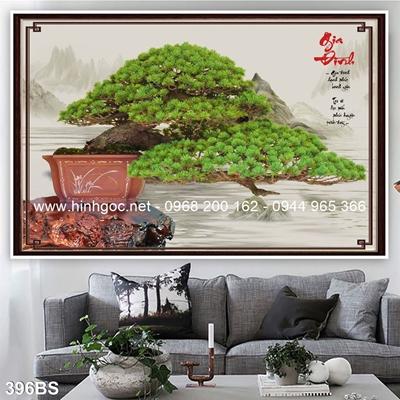 Tranh 3D cây bonsai- 396BS