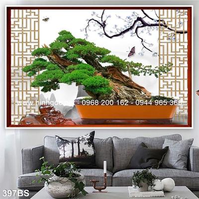 Tranh 3D cây bonsai- 397BS