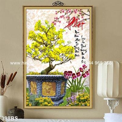 Tranh 3D cây bonsai- 398BS