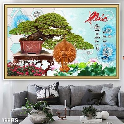 Tranh 3D cây bonsai- 399BS