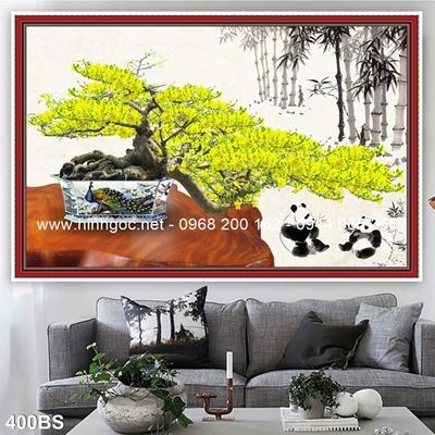Tranh 3D cây bonsai- 400BS