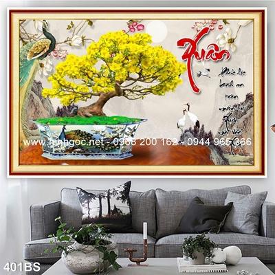 Tranh 3D cây bonsai- 401BS