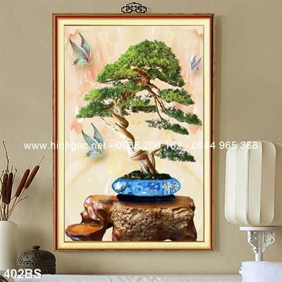 Tranh 3D cây bonsai- 402BS