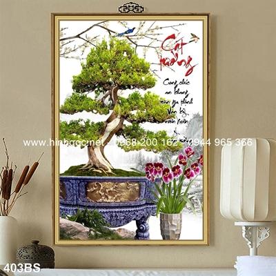 Tranh 3D cây bonsai- 403BS