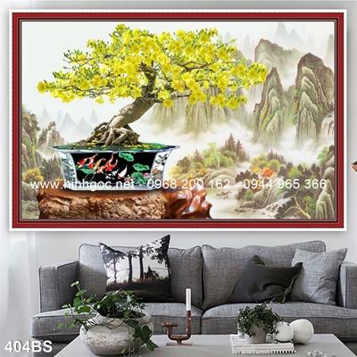 Tranh 3D cây bonsai- 404BS