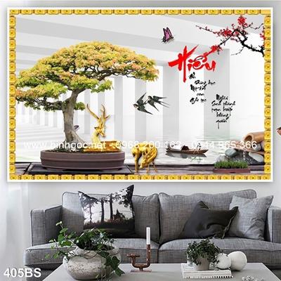 Tranh 3D cây bonsai- 405BS