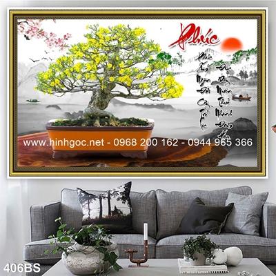 Tranh 3D cây bonsai- 406BS