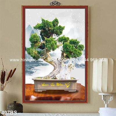 Tranh 3D cây bonsai- 407BS