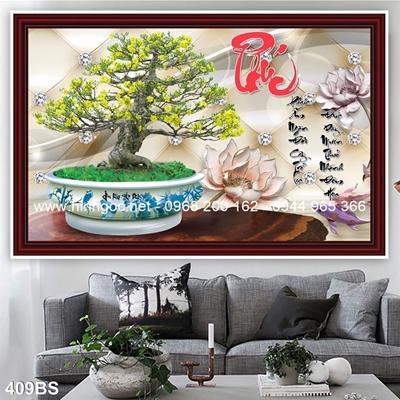 Tranh 3D cây bonsai- 409BS