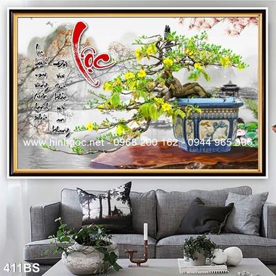 Tranh 3D cây bonsai- 411BS
