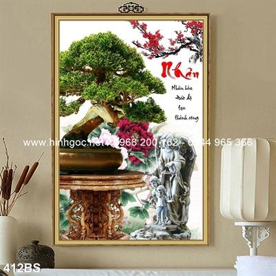 Tranh 3D cây bonsai- 412BS