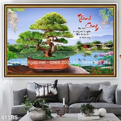 Tranh 3D cây bonsai- 413BS