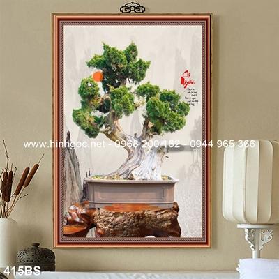 Tranh 3D cây bonsai- 415BS