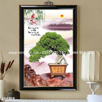 Tranh 3D cây bonsai- 416BS