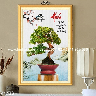 Tranh 3D cây bonsai- 417BS
