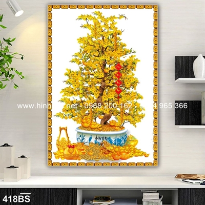 Tranh 3D cây bonsai- 418BS