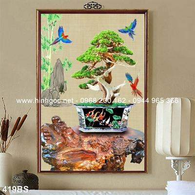 Tranh 3D cây bonsai- 419BS