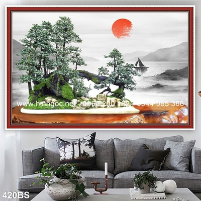 Tranh 3D cây bonsai- 420BS
