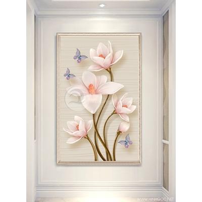 Hoa mộc lan 3D nổi - 888-46