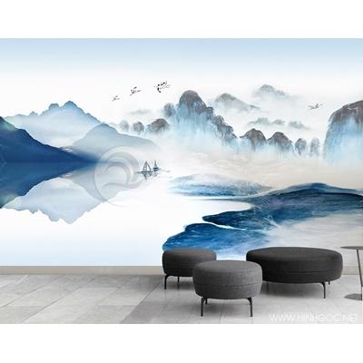 Mẫu tranh mây núi - CS001