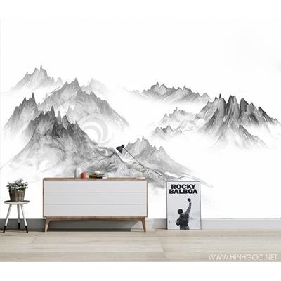 Mẫu tranh đỉnh núi mây - CS028