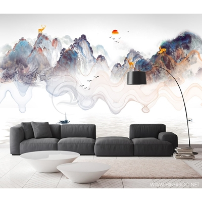 Mẫu tranh mây núi - CS043