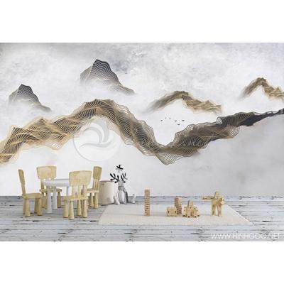 Mẫu tranh mây núi - CS064