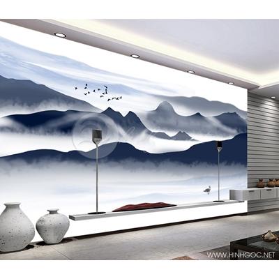 Mẫu tranh mây núi - CS082