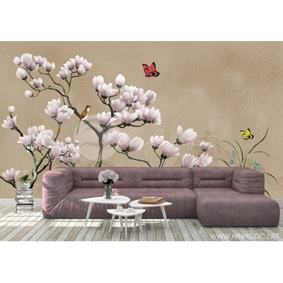 Mẫu tranh hoa bướm - CS113