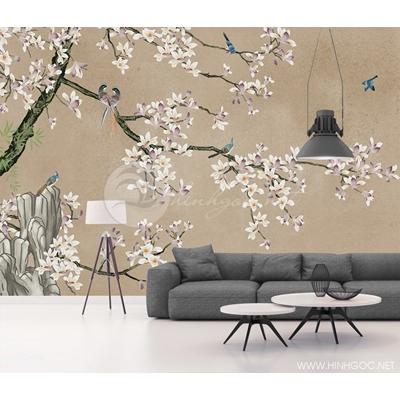 Mẫu tranh hoa và chim - CS115
