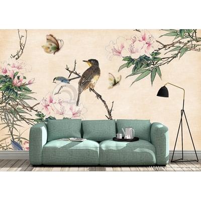 Mẫu tranh chim và hoa - CS123
