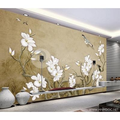 Mẫu tranh hoa đại trắng - CS143