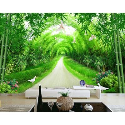 Tranh dán tường nền tường phong cảnh rừng trúc - CS2-01