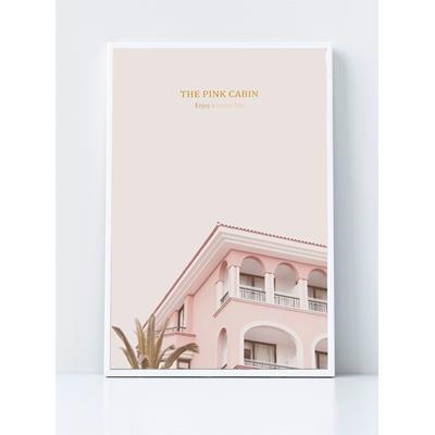 ngôi nhà màu hồng trang trí - DES-78