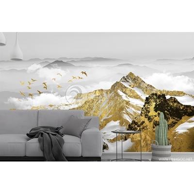 Phong cảnh dãy núi vàng - DT14
