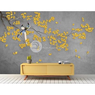 Cành cây lá vàng  - DT36