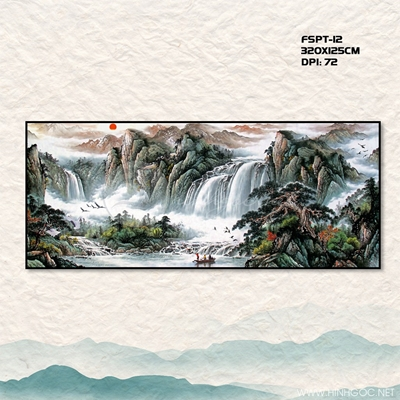 Tranh núi và thác - FSPT-12