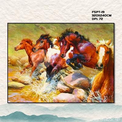 Tranh ngựa và suối - FSPT-19