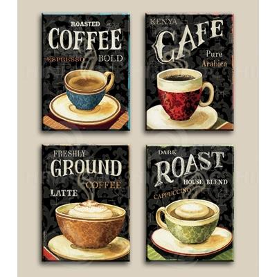 Tranh bộ trang trí quán coffee - HF12