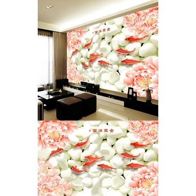 Nền sỏi cá và hoa